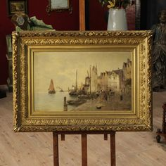 Signed painting depicting marine of the twentieth century. Visit our web site www.parino.it