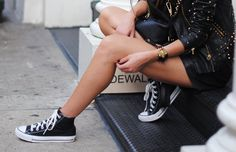 Black (leather) high tops