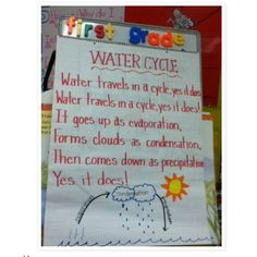 water cycle song. a must do for my second graders since we are learning about this in science!