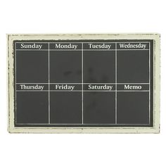 DecMode 36W x 24H in. Rustic Wood Days of the Week Chalkboard Wall Panel - 95206... | 1000 Organization Station, Home Organization, Chalkboard Wall Bedroom, Chalkboard Calendar, Family Command Center, Weekly Calendar, Dry Erase Board, New Wall, Wooden Walls