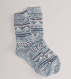 AEO Fair Isle Crew Sock