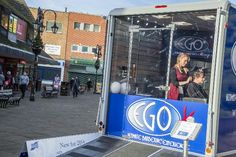 The Ifor Williams Business inabox mobile barbers shop