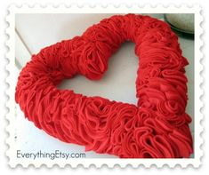 "For link to original & complete blog post, scroll to bottom of this post.Here's what you need…You'll need a 12"" foam wreath, felt, glue, a bit of wide ribbon and LOTS of pins!I cut 2"" circles out of felt with my Big Shot scrapbook paper cutting  tool.  It doesn't work that well with ..."