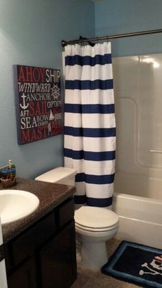 Boy bathroom, already have the shower curtain, lets do pirate!