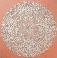 Home Decor Crochet Patterns Part 47 - Beautiful Crochet Patterns and Knitting Patterns Filet Crochet, Crochet Mat, Crochet Dollies, Crochet Doily Patterns, Crochet Diagram, Crochet Round, Crochet Home, Thread Crochet, Irish Crochet