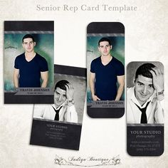 Senior Rep Card Template for Photographers by IndigoBoutique
