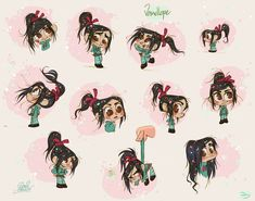 Vanellope from Wreck it Ralph by David Gilson