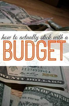 Do you have trouble actually sticking to your budget? Here are some tips that really work! http://www.cultofmoney.com/2015/01/21/how-to-actually-stick-to-a-budget/ cheap christmas gifts, make money for christmas #christmass #gift
