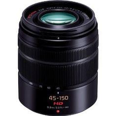 Panasonic H-FS45150K Lumix G Series Lens (Black) by Panasonic. $224.38. Compact, lightweight telephoto zoom covers 300mm, 45-150 f/4.0-5.6. MFT. Save 25% Off!