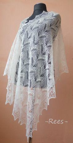 Items similar to Hand knitted natural white Haapsalu shawl made with Ingrid Rüütel pattern CUSTOM ORDER on Etsy Shawl Patterns, Knitting Patterns, Lace Knitting, Knit Crochet, Creative Wedding Inspiration, Bolero Pattern, Wedding Shawl, Chunky Knit Cardigan, Knitting Accessories