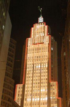 Banespão - Iluminação externa de Natal  T74Brasil