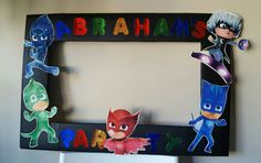 Party Photo both frame inspired by Pj masks by PinatasUSA on Etsy