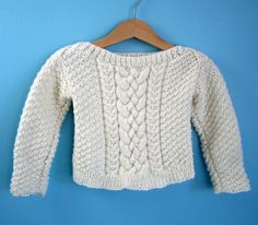 baby cable sweater