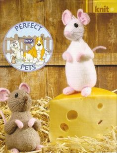 Alan Dart Chalk and Cheese pattern mouse mice rat by Zodwollop