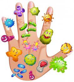 Human hand full different viruses vector image on VectorStock Sick Boy, Sick Kids, Bday Background, Hand Washing Poster, Kindergarten, Learn Arabic Alphabet, Flashcards For Kids, School Clipart, School Decorations