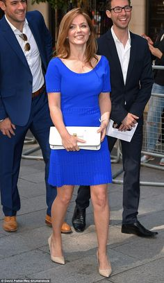 Not feeling blue: Geri Halliwell was the picture of newly-married bliss as she attended the Nordoff Robbins O2 Silver Clef Awards 2015 in London on Friday