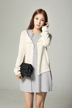 Light Open Collar Cardigan