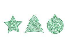 Postal de Navidad @ Carmen Lebrón  Ornamentos, 2013