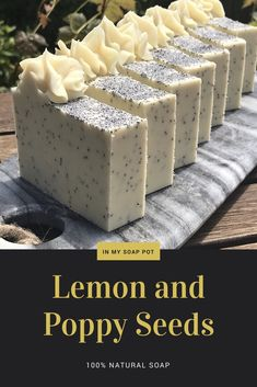 Lemon and poppy seeds is an all-natural soap suitable for beginners soap makers, with an extra twist for those who like to try out new things!