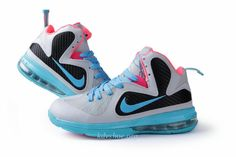 Lebron 9 For Girls South Beach Fireberry Basketball Shoes