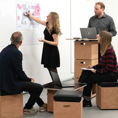 Use our modular furniture for a brainstorm session at DO BOX. Modular Furniture, Brainstorm, Plymouth, Box, Creative, Ideas, Design, Home Decor, Sectional Furniture