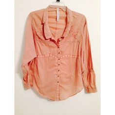 Free People New Romantics Embroidered Top Size Xs but fits more like a small. Excellent condition. The top is a blush color. Very beautiful! Free People Tops Tunics