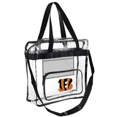 Cincinnati Bengals Clear High-End Messenger Bag ***ALLOWED IN NFL STADIUMS!***