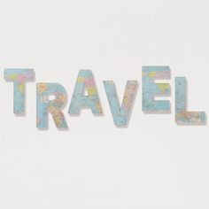 'Travel' Paper and Fabric Letters, Set of 6 from Cost Plus World Market. Shop more products from Cost Plus World Market on Wanelo. Fabric Letters, Sign Letters, Cardboard Letters, Diy Cardboard, Letter Set, World Market, Travel Themes, Affordable Home Decor, My Living Room