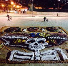 Tapetes del Día de Muertos, Oaxaca
