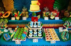 """Rio"" Themed 4th Birthday Jungle, Bird Party - Kara's Party Ideas - The Place for All Things Party"