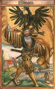 "Esslingen [Eßlingen] (f°49) -- Koebel, Jacob, ""Wapen des heyligen römischen Reichs teutscher Nation"", Franckfurth am Main, 1545 [BSB Ms. Rar. 2155]"