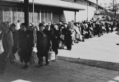 May 25, 1943. Of the 7,000 Jews summonsed by the Germans, 500 reported for transportation to transit camp Westerbork. They waited for hours for the special train that would transport them from Muiderpoort railway station to Westerbork near the city of Assen. #amsterdam #wordwar2