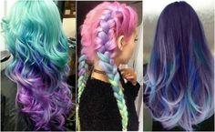 Ta fryzura przyciąga każdy wzrok - Włosy galaxy #włosy #włosygalaxy #włosygalaxyhair #galaxyhair