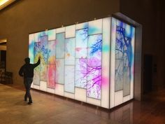 Materials & Methods developed integrated digital media installations for the new 12-story State Employees Credit Union executive tower in downtown Raleigh, N.C. #SEGD