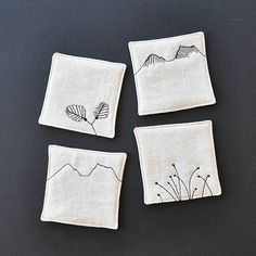 It's fagus time. Finished coasters in shop now. Fabric Coasters, Tasmania, Shop Now, Arts And Crafts, It Is Finished, Embroidery, Tableware, Nature, Instagram Posts