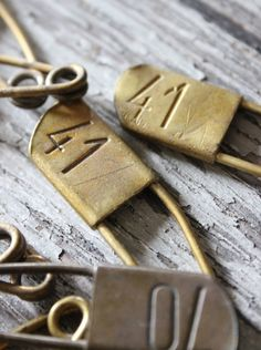 Vintage number pins