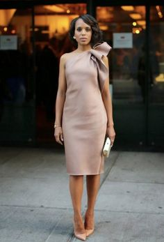 How to Dress Like Olivia Pope simple but elegant outfit Beautiful Dresses, Nice Dresses, Gorgeous Dress, Bow Dresses, Blush Dresses, Beautiful Ladies, Dress Outfits, Olivia Pope Style, Olivia Pope Outfits