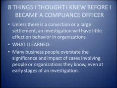 Compliance at the State and Federal Levels