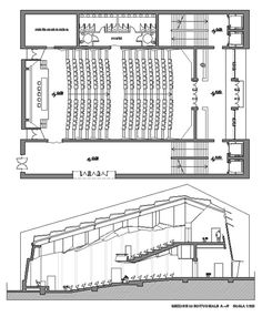Conference Hall - Abigail Home Auditorium Design, Auditorium Plan, Auditorium Architecture, Architecture Design Concept, Theatre Architecture, Cultural Architecture, Architecture Plan, Planetarium Architecture, Auditorium Seating