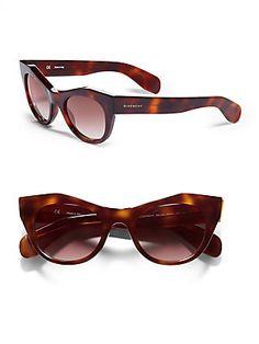Givenchy Cat's-Eyes Tortoise Sunglasses