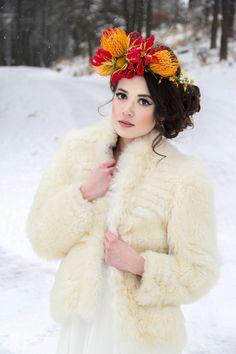 18 Cozy Winter Wedding Outerwear Looks via Brit + Co.