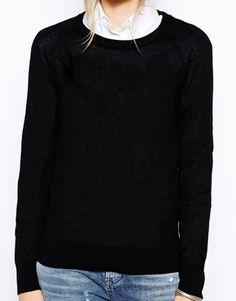 Aumentar Jersey de mezcla de lana Costa de Selected