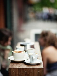 a line of espresso, macchiato, cappuccino. Coffee Talk, I Love Coffee, Coffee Break, My Coffee, Coffee Drinks, Morning Coffee, Coffee Cups, Tea Cups, Skinny Coffee