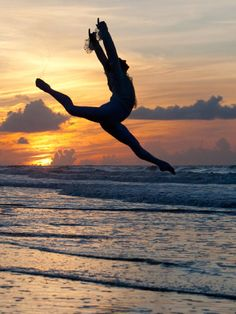 dance in the sunset on the beach