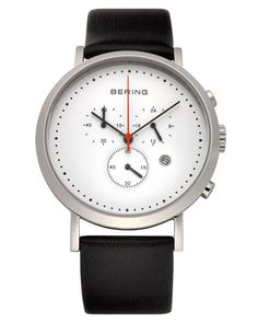 The BERING Time Classic 10540-404 Chronograph 40mm White Watch is a timelessly beautiful and long-lasting timepiece.