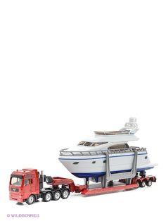 Машинки SIKU Тягач с яхтой