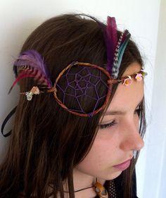Hippie Headband Dream Catcher Flower Crown Boho Hippy by heidihaha, $40.00