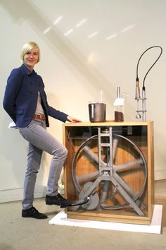 """R2B2 by Christoper Thetard of Studio Montag:  """"Did you know that in three minutes it takes you to whip cream Germany produces six tons of electronic scrap? R2B2 is a piece of kitchen equipment that enables you to counteract this development while still being able to whip cream in three minutes. """""""