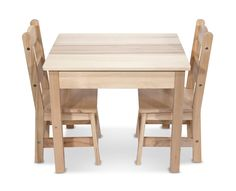 LIGHTNING DEAL ALERT! Melissa & Doug Solid Wood Table and 2 Chairs Set – 42% off! via @hiphmschoolmoms