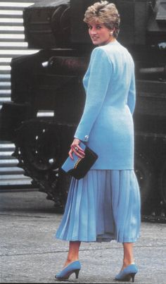 July 29, 1993: Princess Diana at Hohne Barracks in Winsen, West Germany.